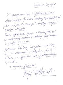 Referencje od Rafała Olbińskiego