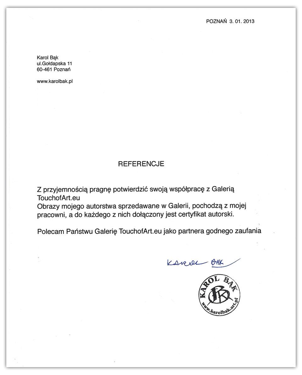 Referencje Karol Bąk