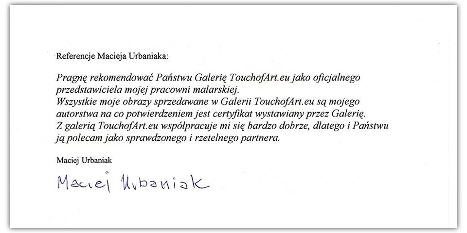 Referencje Maciej Urbaniak