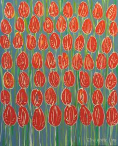 Tulipany-czerwone