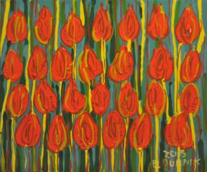 Pąsowe tulipany