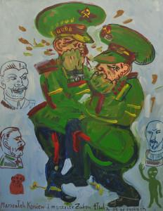 Marszałek Koniew i marszałek Żukow tłuką się po pyskach
