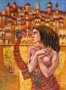 Panna z lirą