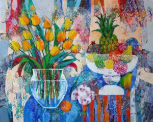 Tulipany i owoce