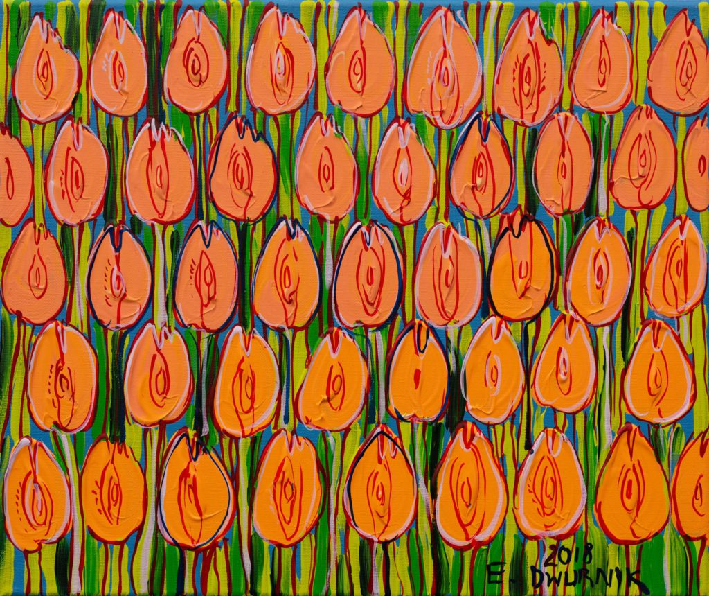 Cieliste tulipany