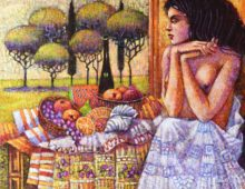 Panna w ogrodzie