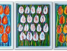 Tulipany – Tryptyk (Pomarańczowe, Białe, Żółte)