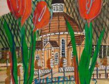 Krynica Zdrój tulipany z cyklu Nikifor