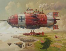 Giclee-Czerwona eskadra hrabiego Zeithen